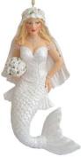 December Diamonds Beautiful Blond Bride Mermaid Magnet