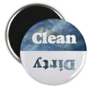 Clouds Clean Dirty Dishwasher Magnet