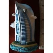 Dubai Burj Al Arab Emirates U a E Ship Sail Hotel Thai Magnet Hand Made Craft