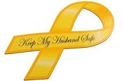Keep My Husband Safe Ribbon Magnet