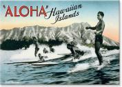 Surf Riding Vintage Surfers - Hawaiian Art Collectible Refrigerator Magnet