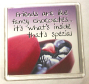 Sentiments Magnets - Friends Are Like Fancy Chocolates... It's What's Inside Them That's Special