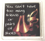 Sentiments Magnets - You Can't Have Too Many Friends or Pairs of Shoes