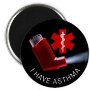 I HAVE ASTHMA Medical Alert 2.25 Fridge Magnet