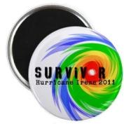 SURVIVOR 2011 Hurricane Irene 5.7cm Fridge Magnet
