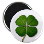 LUCKY FOUR LEAF CLOVER St Patrick's Day 2.25 Fridge Magnet