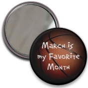 MARCH is my Favourite Month MADNESS BASKETBALL 5.7cm Pocket Mirror