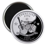 TENNESSEE State Quarter Mint Image 5.7cm Fridge Magnet