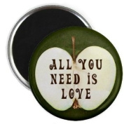ALL YOU NEED IS LOVE Beatles Music Apple 5.7cm Fridge Magnet
