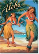 Aloha, Hawaii by Kerne Erickson - Hawaiian Art Collectible Refrigerator Magnet