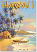 Playground of the Pacific by Kerne Erickson - Hawaiian Art Collectible Refrigerator Magnet
