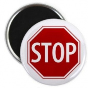 SERVICE DOG Red STOP SIGN Alert 5.7cm Fridge Magnet