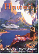 Fly to the South Seas - Hawaiian Art Collectible Refrigerator Magnet