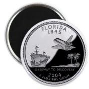 FLORIDA State Quarter Mint Image 5.7cm Fridge Magnet