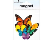 Paper House M-0494E 6-Pack Die Cut Refrigerator Magnet, Butterfly Cluster