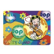 Betty Boop Lenticular 4x6 Magnet Deluxe 4x6, 3D Hippy Guitarist Image, Rainbow