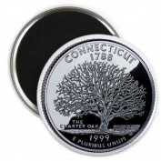 CONNECTICUT State Quarter Mint Image 5.7cm Fridge Magnet