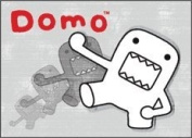 Domo-Kun Faded - Button Magnet