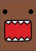 Domo-Kun Full Face - Button Magnet
