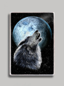 Howling Wolf Refrigerator Magnet