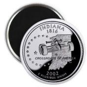 INDIANA State Quarter Mint Image 5.7cm Fridge Magnet