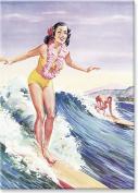 Libbys Surfer Girl - Hawaiian Art Collectible Refrigerator Magnet