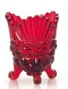 Mosser Glass Eye Winker Spoon Holder in Red