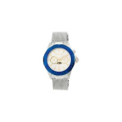 Invicta 80318 Mens Sea Wizard Stainless Steel Case and Mesh Bracelet Silver Tone Dial Blue Tone Bezel