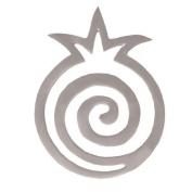 Aluminium Trivet - Round Pomegranate Snail - Silver
