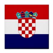 Croatia Flag Tile Trivet