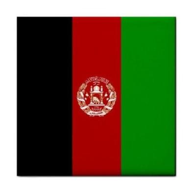 Afghanistan Flag Tile Trivet