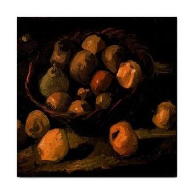 Basket of Apples By Vincent Van Gogh Tile Trivet