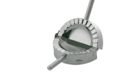 Kuchenprofi Ravioli Cornish Pasty Maker Mould and Cutter Stainless Steel Silver 12 cm Diameter