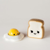 Ceramic Egg and Toast Salt and Pepper Shakers in Gift Box