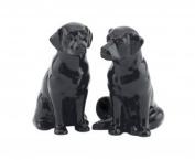 Quail Ceramics Fine China Black Labrador Salt & Pepper Pots