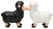 Black and White Sheep Magnetic Ceremic Salt and Pepper Shakers