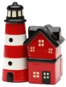 Lighthouse Magnetic Ceremic Salt and Pepper Shakers