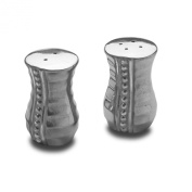 Wilton Armetale Flutes and Pearls Salt and Pepper Shakers, 3.2cm by 7cm