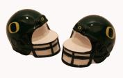 Out of the Woods of Oregon Collegiate Football Helmet Salt and Pepper Set, University of Oregon Helmet