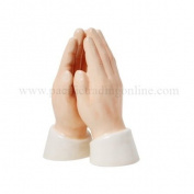 Praying Hands Say Your Blessings Salt and Pepper Magnetised Shaker Set