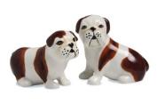 Pavilion Rescue Me Now English Bulldog Salt and Pepper Shaker Set, Winston and Liam, 7cm