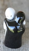Halloween Black & White Ghosts Salt & Pepper Shakers S/P