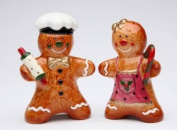 Male and Female Gingerbread Figures Salt and Pepper Collectible