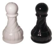 3.1587.5cm Black And White Ceramic Chess Pawn Salt And Pepper Pot Set