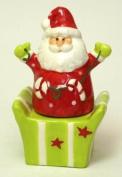 Ceramic Santa/Gift Box Salt & Pepper Set