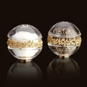 L'Objet Goldplated Garland Salt & Pepper Shakers. Crystals - Yellow