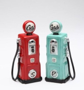 10.8cm Road Trip Red and Blue Gas Pumps Salt and Pepper Shakers