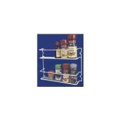 Grayline 40504, Two Shelf Spice Rack, White