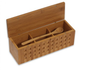 Island Bamboo 26cm Triple Scoop Box