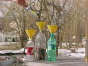 Soda Bottle Funnel in Yellow